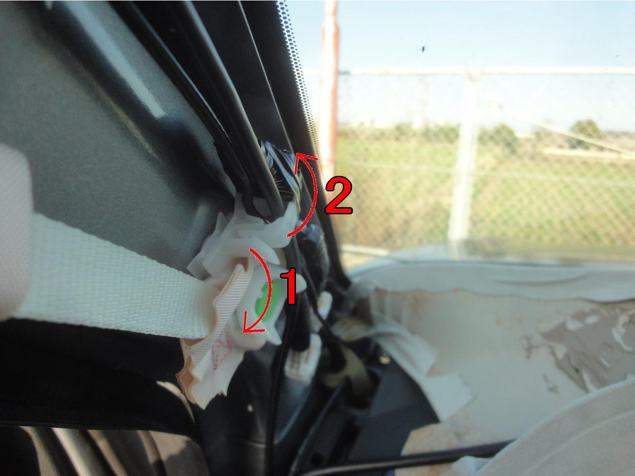 デジタルインナーミラー(ミラー型ドラレコ)の取り付け その3