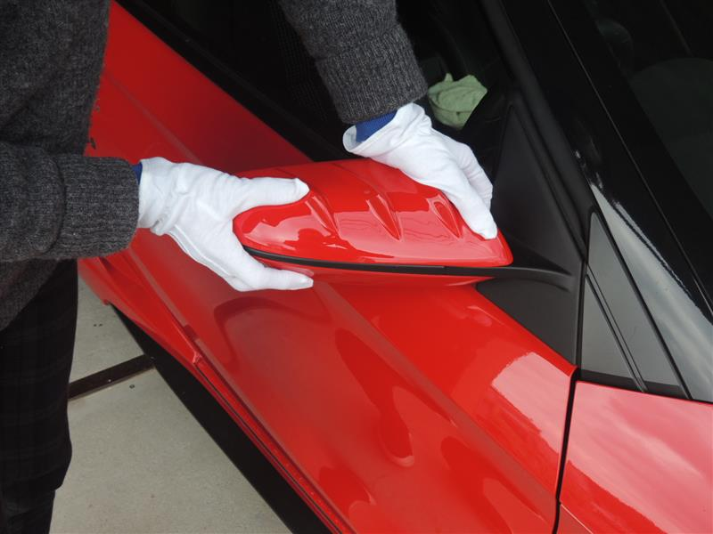 S660ドアミラーカバーの取り付け方