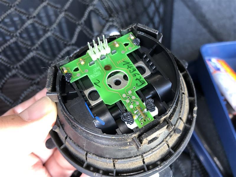 ドアミラーのアングル調整の誤動作修理