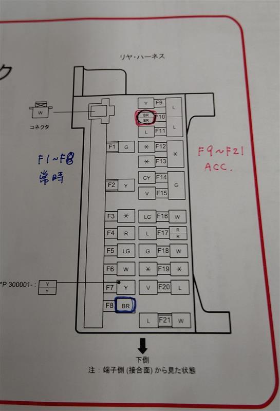 【訂正・修正記事】KF ACC電源 分岐タップで