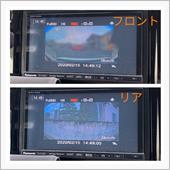 ドライブレコーダーのフロントとリアの画像です。