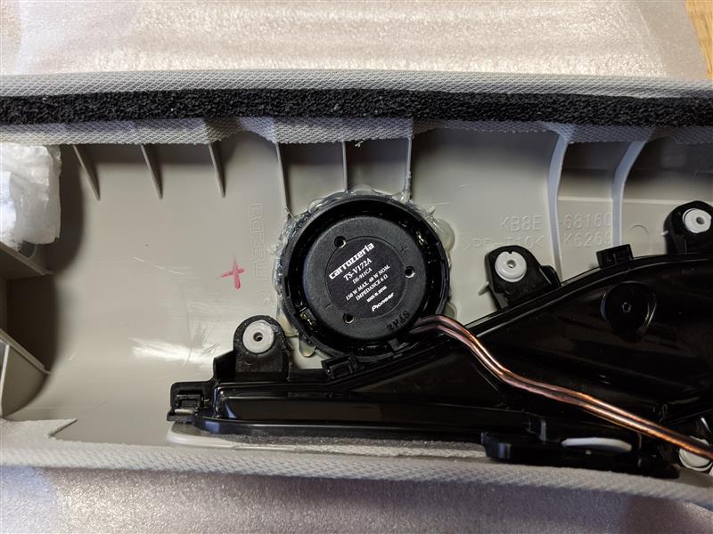 パイオニア TS-V172Aツイーター交換(Aピラー)