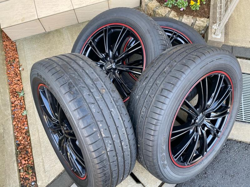 洗車とタイヤ交換