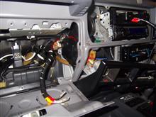 ランドクルーザー70 ランクル73(改)パナソニックポーターブルカーナビ(CN-P02)装着のカスタム手順2