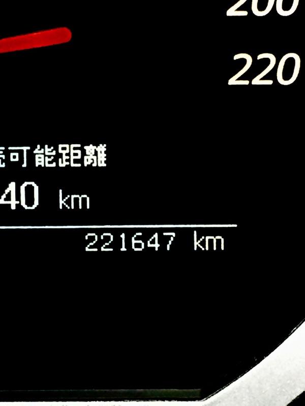 サマータイヤへ交換、221,647km