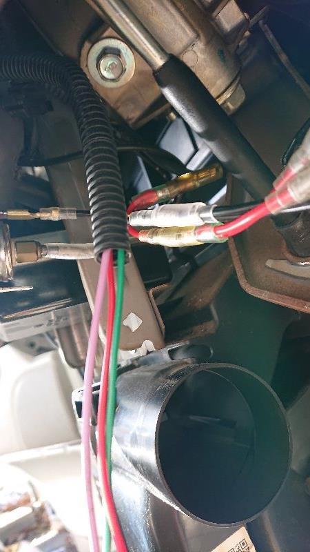 コムテックWR530エンジンスターター取り付け