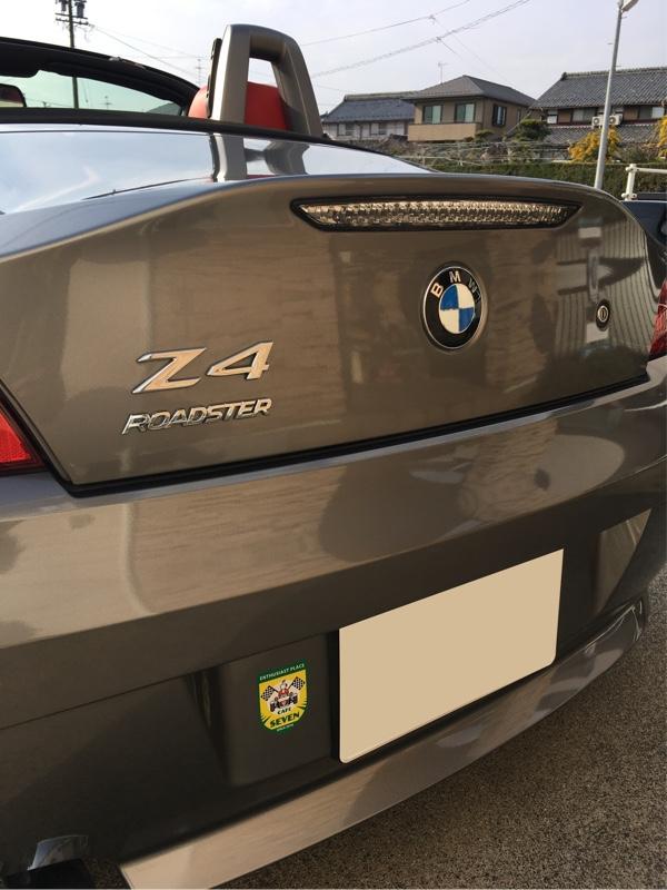 BMW Z4のリアエンブレムの脱落