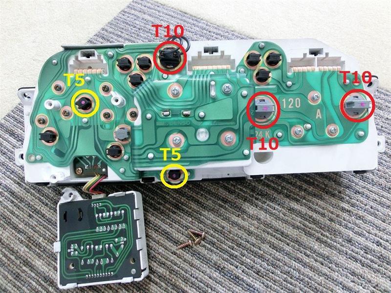 メーター内 方向指示機 LED化