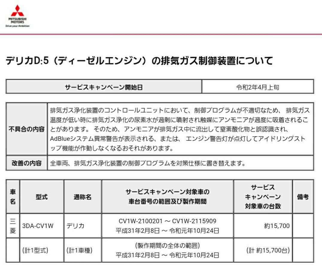 【サービスキャンペーン②】排ガス浄化装置ファームアップ