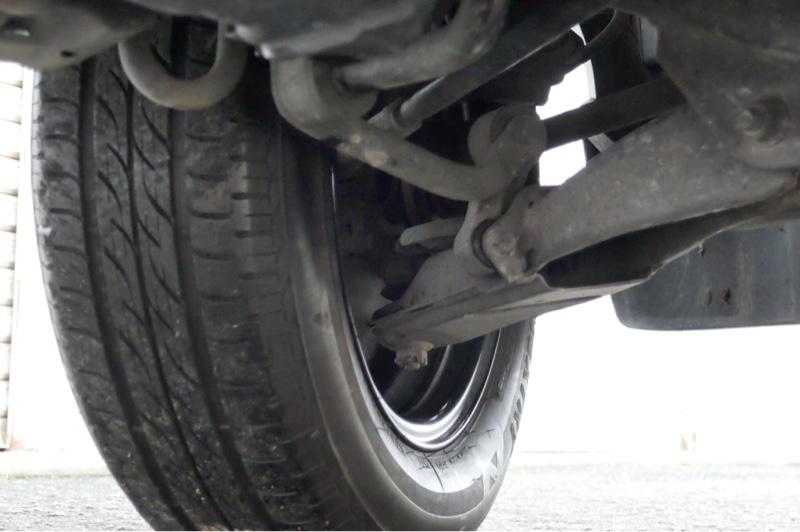 タイヤをベストと思われる165/70R14へ交換。
