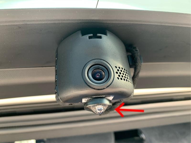 リアドライブレコーダー取り付けLEDスキャナー追加