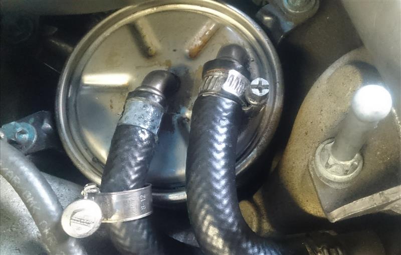 燃料漏れ ⇒ ホース切除手術 ⇒ 漏れが止まった