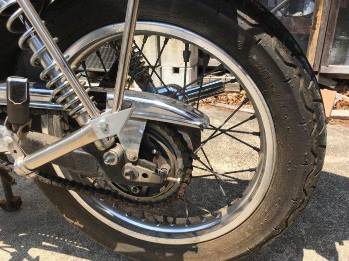 Fタイヤに続き翌日はRタイヤの交換^^