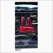 写真撮り忘れて完成してしまってますが、サフを塗ったあとトヨタ?か何かの純正色です<br /> これまたホルツの缶スプレーです<br /> 最後に2液ウレタンクリヤーで塗装しました