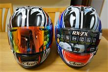 Arai RX-7Xヘルメットの観察とシールドの交換 その1