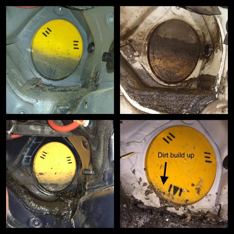 漏水の予防整備(F11 ステアリングシャフトカバー部分)