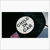 『CHILD IN CAR』ステッカー剥がし!の画像