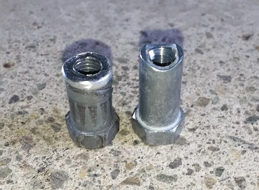 サイドブレーキ調整ナット交換