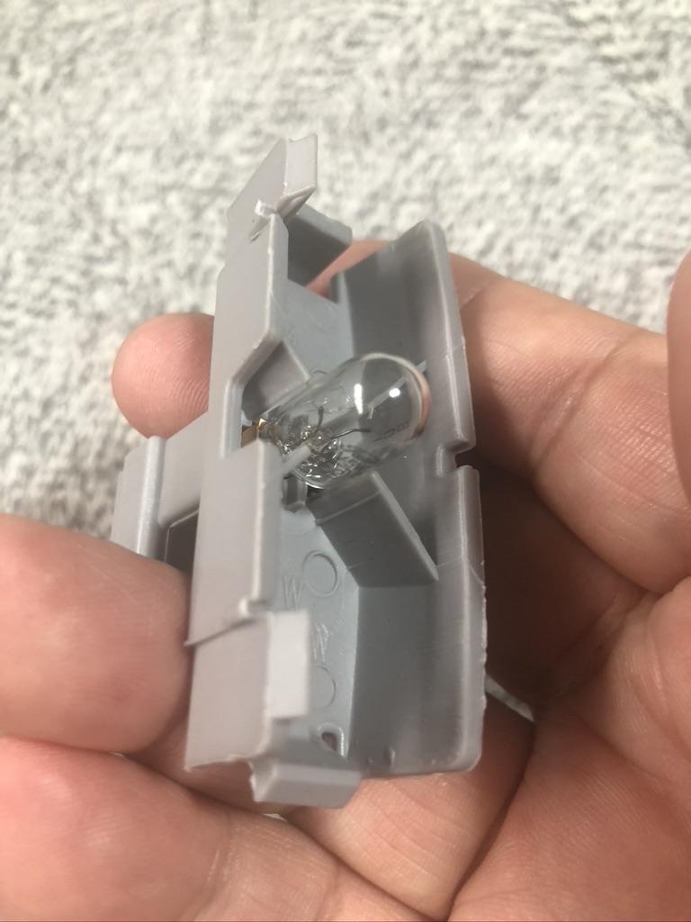 ライセンスランプのLED交換