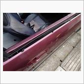 ドア回りの汚れ取りと錆処理の画像