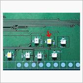 アイドリングストップOFF灯 白色化(2-3) LED&抵抗打ち替えの画像