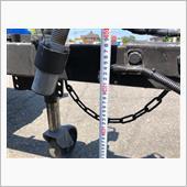 水平をとりバーの下端部から地面までを計測<br /> <br /> 約41cm