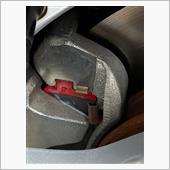 ブレーキパッド ステンメッシュホース交換の画像