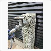 洗車用屋外水道蛇口からの水漏れ修理の画像