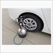 給油のついでに空気圧点検の画像
