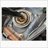 シフトレバーのグラツキ修理の画像