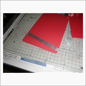 フラップ裾に、これまた在庫のパンチメッシュのアルミ板をカットしてM2ビスとナットで固定。