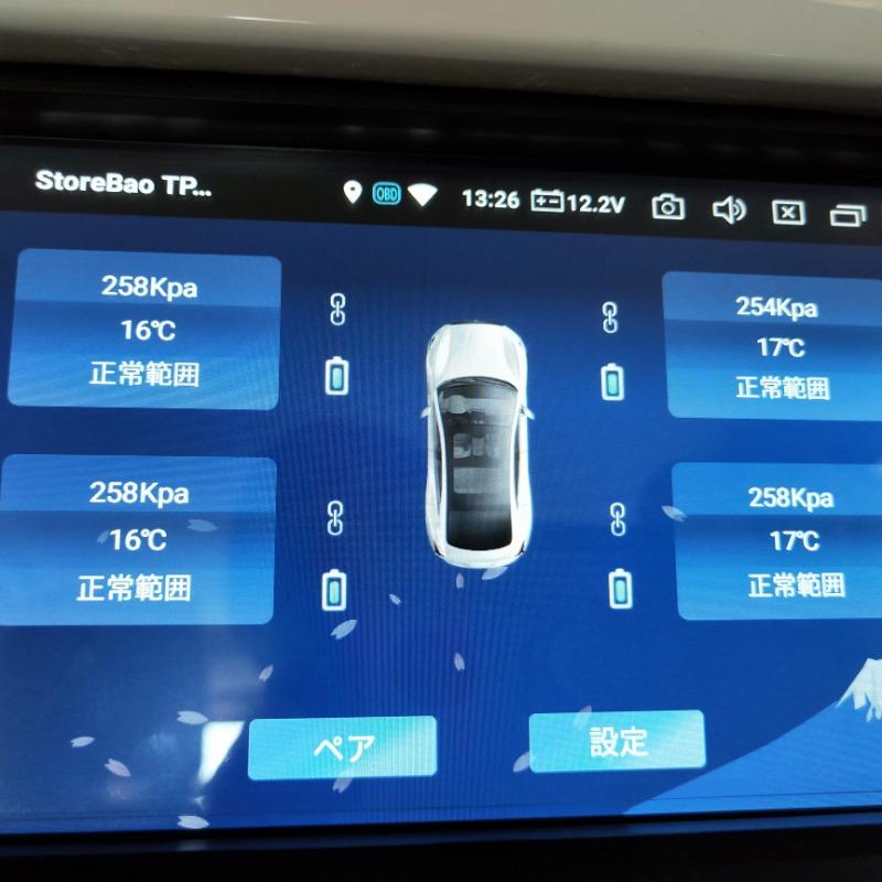 タイヤ空気圧と温度データ