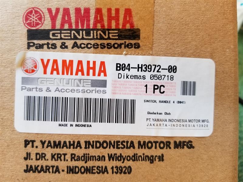 購入したのは『MT03』用 左スイッチボックス。