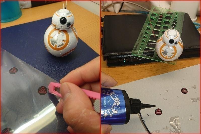 サンキューハザードボタンを作る。