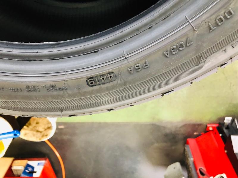 タイヤ交換その②:新タイヤ