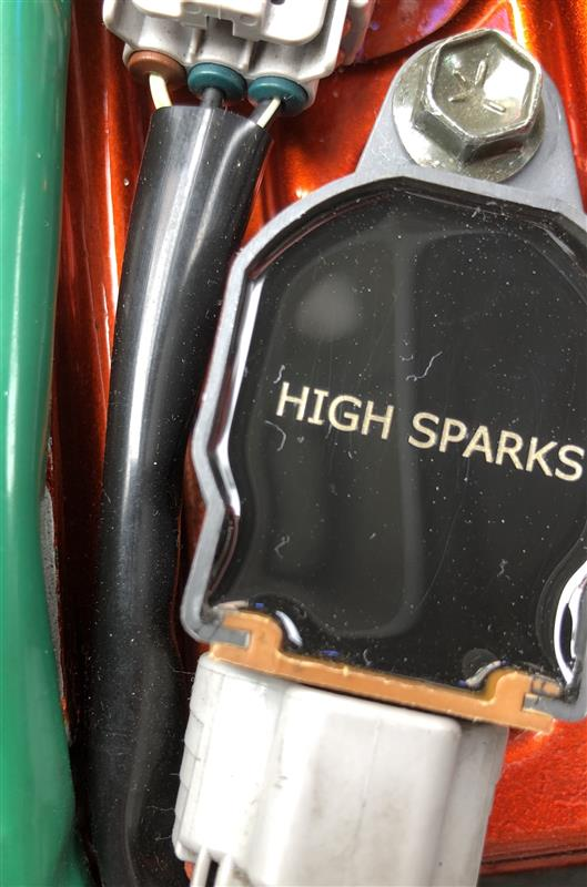 HIGH SPARK IGNITION COIL取付けました。