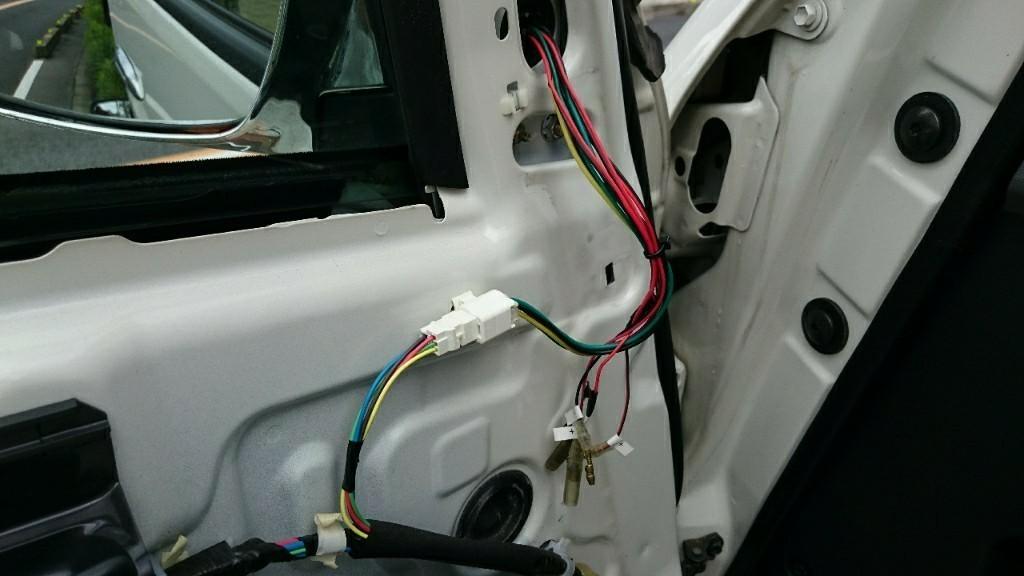 電動格納式ドアミラーに交換