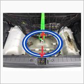 スペアタイヤの固定方法変更の画像