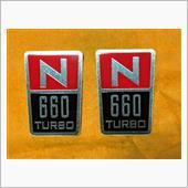 デカール工房テラ N660エンブレム風・タテ型 タイプ/A貼付け施工の画像