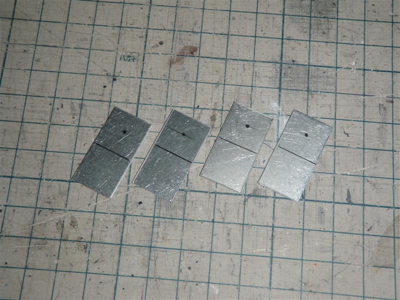 1mmアルミ板をカットしてステーにします。