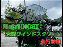Ninja1000SX カワサキ(純正) 大型ウインドシールド(スモーク)の効果