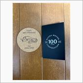 100周年のコースターとメモをいただきました。