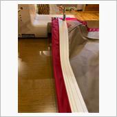 何とか縫い付け完了❗️<br /> 写真は、綺麗に縫い付けたところのみアップしましたw<br /> <br /> 次のキャンプで、使おうと思います^ ^<br /> <br /> <br /> <br /> #テンマク #ケダーベルト #キャンピングトレーラー