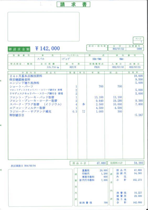 継続車検2回目【ショップ作業】