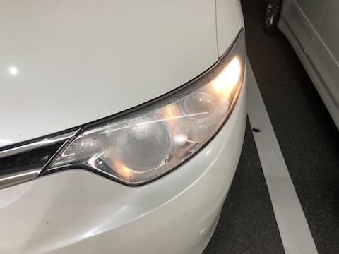 左ヘッドライト交換