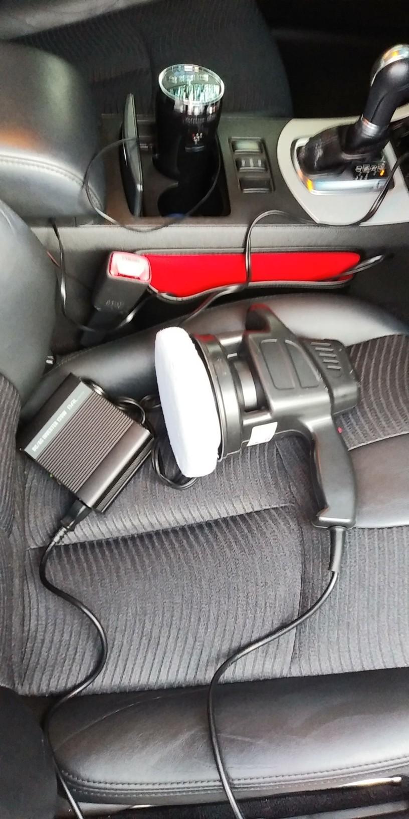 ヘッドライト磨き1