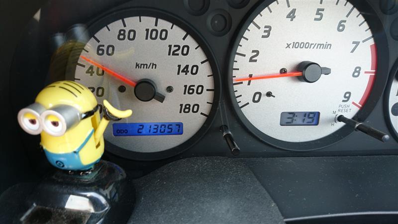 前回交換から5,000km程走行したので、オートバックスでオイル交換して貰いました🎵<br /> オイルはmobil-1の多走行車用 5w-30、オイルフィルターはPIAAのツインパワーZ5を選択✨<br /> 総走行距離213,057km