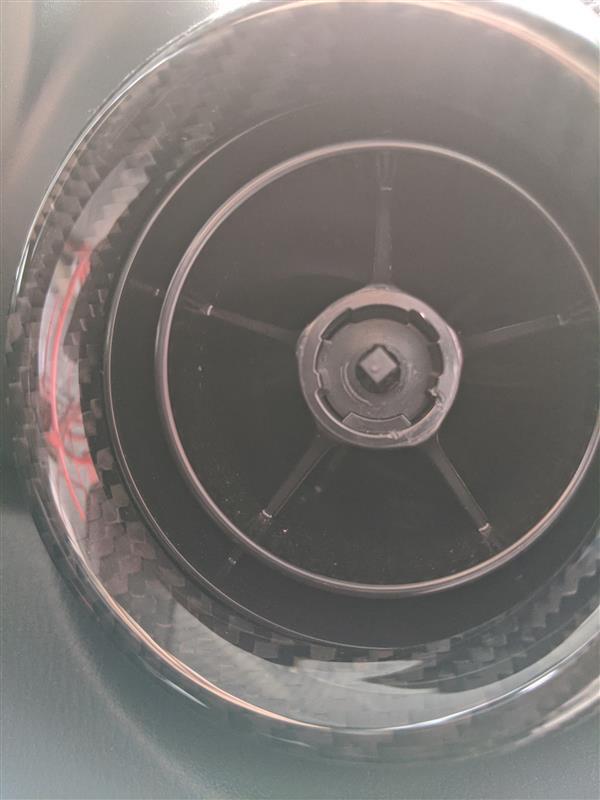 エアコンルーバーのツマミをカラーチェンジしてみました