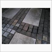 駐車場の石畳整備