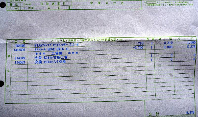 カストロールEDGE 0W-16 4L   PIAAオイルフィルターZ11-M
